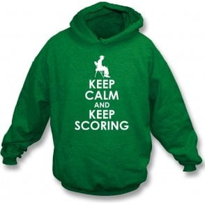 Keep Calm And Keep Scoring Kids Hooded Sweatshirt