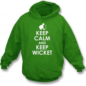 Keep Calm And Keep Wicket Kids Hooded Sweatshirt