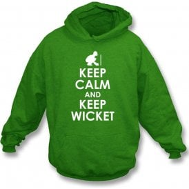 Keep Calm And Keep Wicket Kids Hooded Sweatshirt