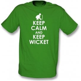 Keep Calm And Keep Wicket Kids T-Shirt