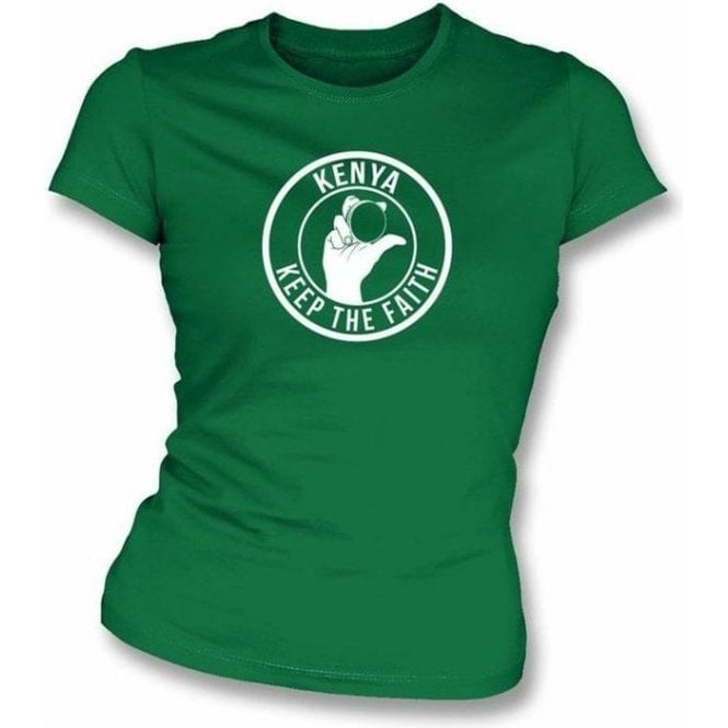 Kenya Keep The Faith Women's Slimfit T-shirt