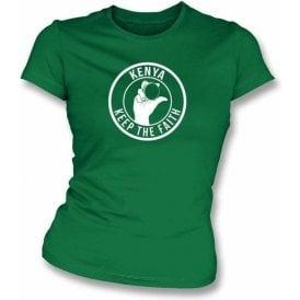 Kenya Keep The Faith Women's Slimfit T-shirt