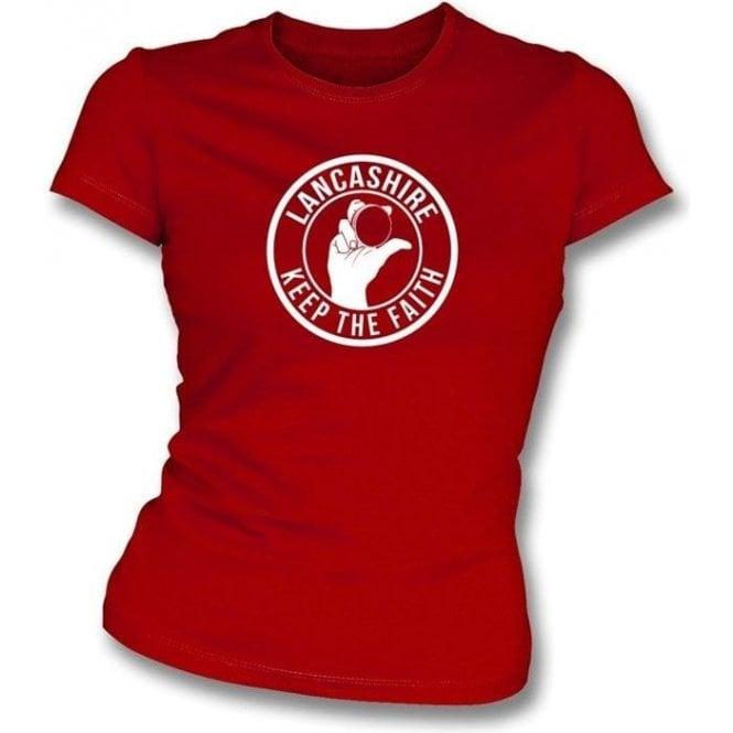 Lancashire Keep The Faith Women's Slimfit T-shirt
