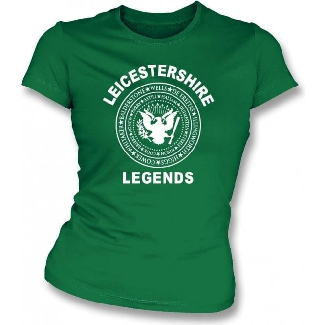 Leicestershire Legends (Ramones Style) Womens Slim Fit T-Shirt