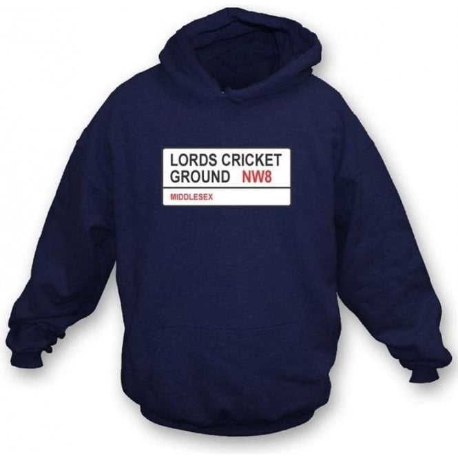 Lords Cricket Ground NW8 Hooded Sweatshirt (Middlesex)