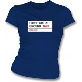 Lords Cricket Ground NW8 Women's Slim Fit T-shirt (Middlesex)
