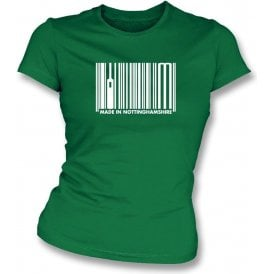 Made In Nottinghamshire Womens Slim Fit T-Shirt