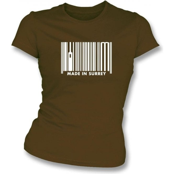 Made In Surrey Womens Slim Fit T-Shirt