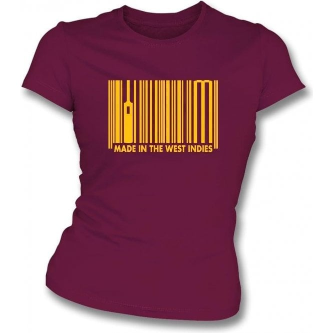 Made In The West Indies Womens Slim Fit T-Shirt