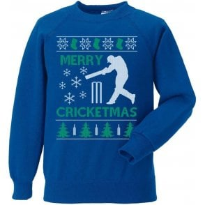 Merry Cricketmas Kids Sweatshirt