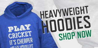 PunkCricket; Heavyweight cricket hoodies