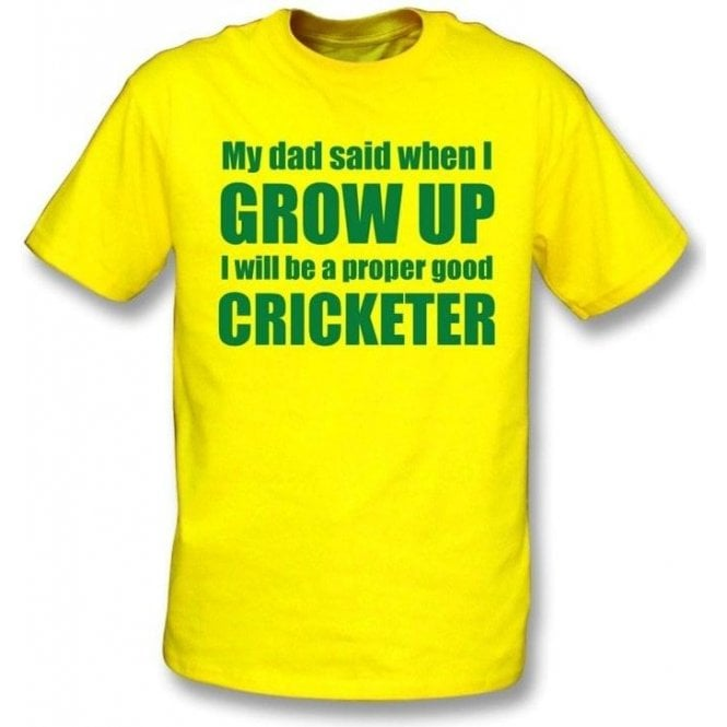My Dad Said When I Grow Up Childrens T-shirt