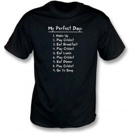 My Perfect Day: Play Cricket Kids T-Shirt