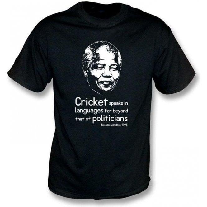 Nelson Mandela 'Cricket Speaks...' T-shirt