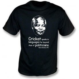 Nelson Mandela 'Cricket Speaks...' T-shirt