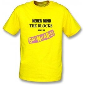 Never Mind The Blocks (Sex Pistols Pastiche) T-shirt