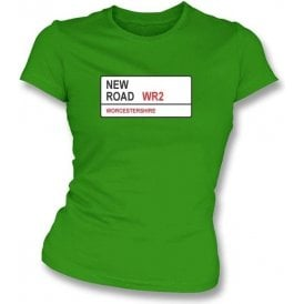 New Road WR2 Women's Slim Fit T-shirt (Worcestershire)