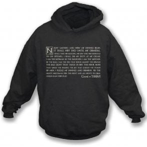 Night Gathers - Game Of Throws Hooded Sweatshirt
