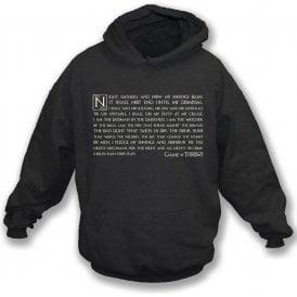 Night Gathers - Game Of Throws Hooded Sweatshirt