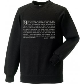 Night Gathers - Game Of Throws Sweatshirt