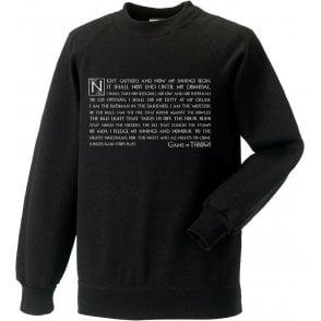 Night Gathers - Game Of Throws Sweatshirt