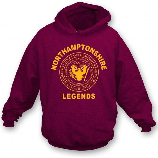 Northamptonshire Legends (Ramones Style) Hooded Sweatshirt
