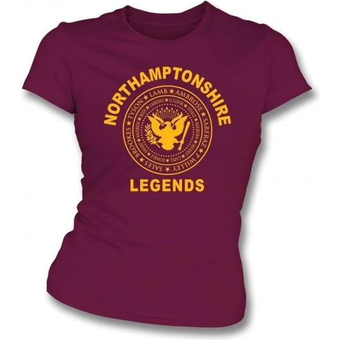 Northamptonshire Legends (Ramones Style) Womens Slim Fit T-Shirt