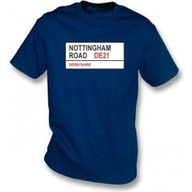 Nottingham Road DE21 T-shirt (Derbyshire)