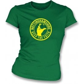 Nottinghamshire Keep The Faith Women's Slimfit T-shirt