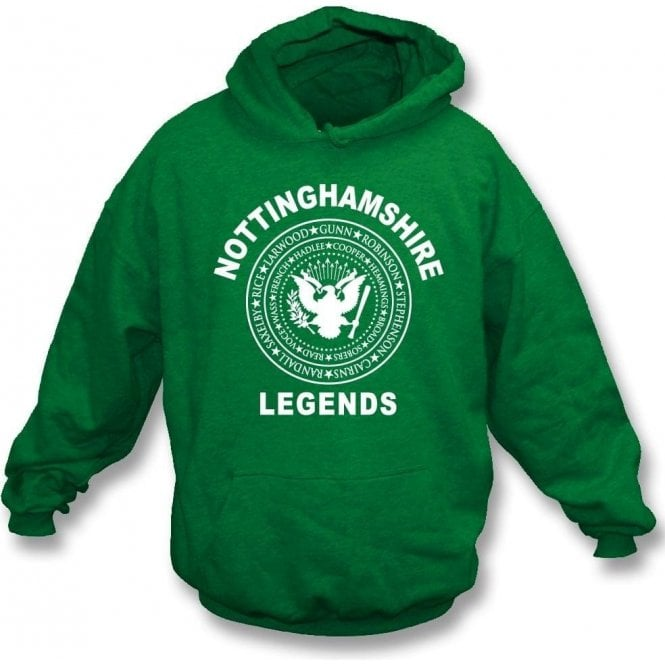 Nottinghamshire Legends (Ramones Style) Kids Hooded Sweatshirt