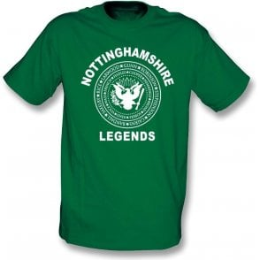 Nottinghamshire Legends (Ramones Style) Kids T-Shirt