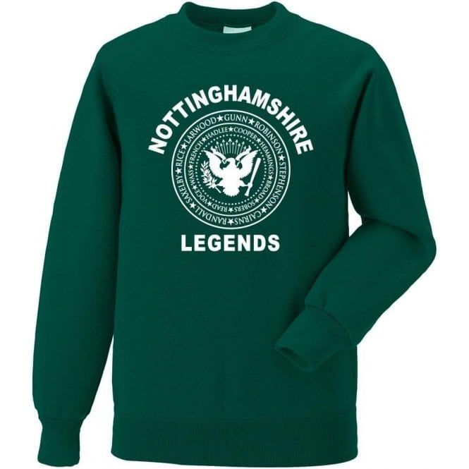 Nottinghamshire Legends (Ramones Style) Sweatshirt