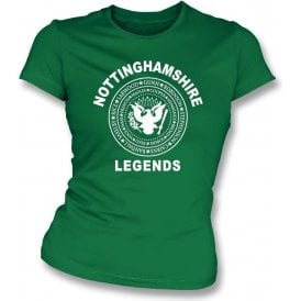 Nottinghamshire Legends (Ramones Style) Womens Slim Fit T-Shirt