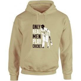 Only Real Men Play Cricket Hooded Sweatshirt