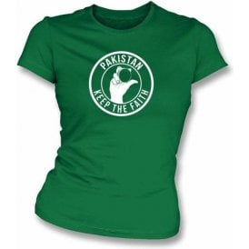 Pakistan Keep The Faith Women's Slimfit T-shirt