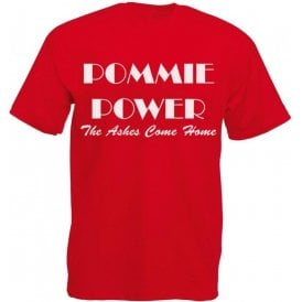 Pommie Power - The Ashes Come Home (As Worn By England Cricket Team) Kids T-Shirt