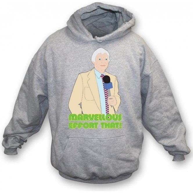 """Richie Benaud """"Marvellous Effort That!"""" Kids Hooded Sweatshirt"""