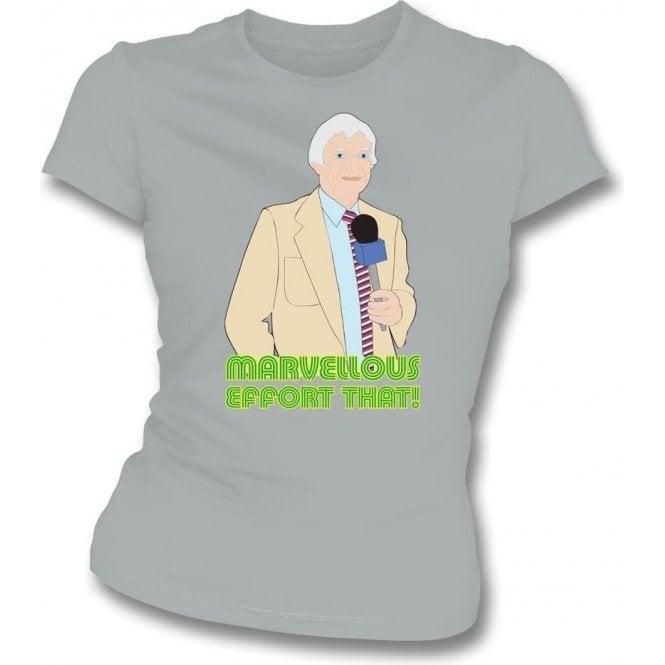 "Richie Benaud ""Marvellous Effort That!"" Womens Slim Fit T-Shirt"