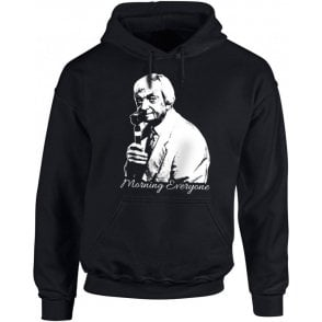 "Richie Benaud ""Morning Everyone"" Kids Hooded Sweatshirt"
