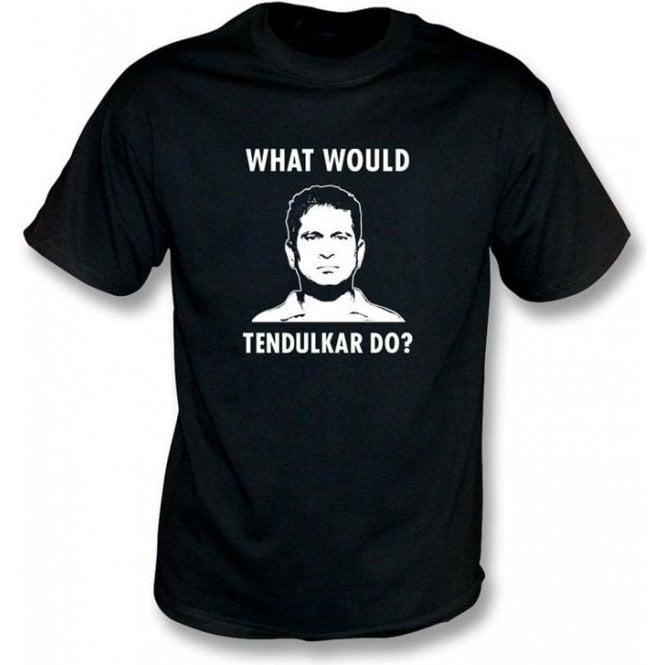 """Sachin Tendulkar """"What Would Tendulkar Do?"""" Mens T-shirt"""