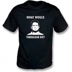 "Sachin Tendulkar ""What Would Tendulkar Do?"" Mens T-shirt"