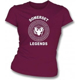 Somerset Legends (Ramones Style) Womens Slim Fit T-Shirt