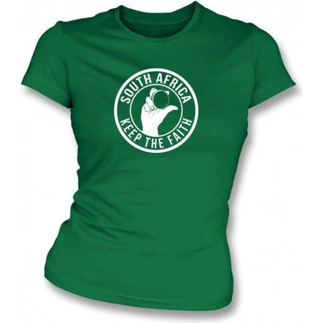 South Africa Keep The Faith Women's Slimfit T-shirt