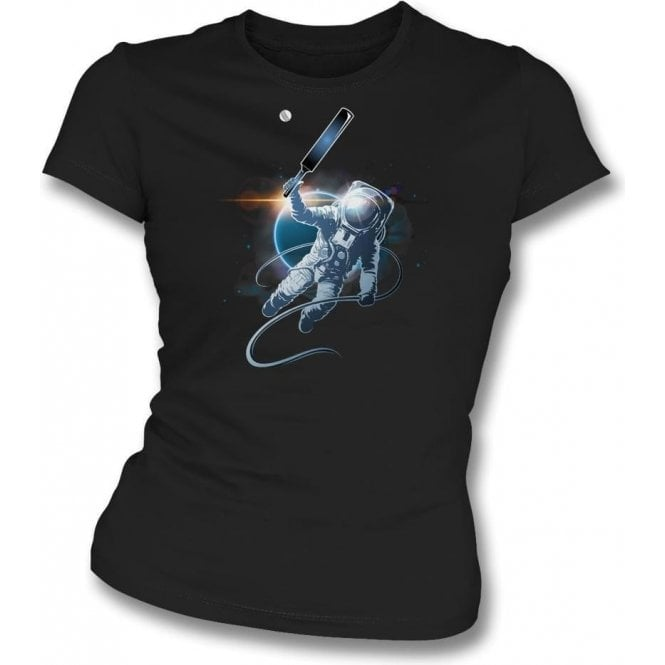 Space Cricket Womens Slim Fit T-Shirt