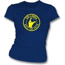 Sri Lanka Keep The Faith Women's Slimfit T-shirt