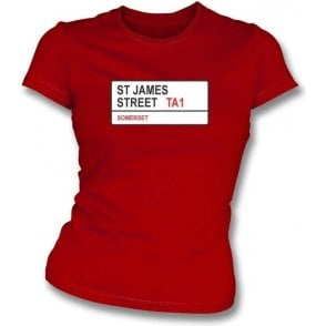 St. James Street TA1 Women's Slim Fit T-shirt (Somerset)