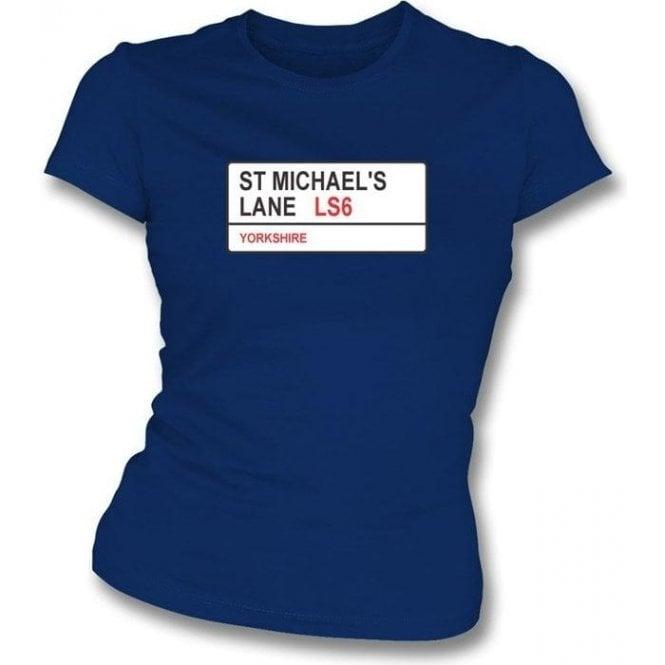 St. Michael's Lane LS6 Women's Slim Fit T-shirt (Yorkshire)