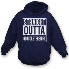 Straight Outta Gloucestershire Kids Hooded Sweatshirt