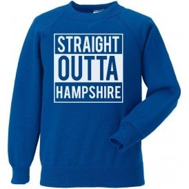 Straight Outta Hampshire Kids Sweatshirt