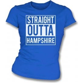 Straight Outta Hampshire Womens Slim Fit T-Shirt
